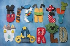 3 D Disney Paper Piecing Scrapbooking Disney World Title Handmade Artwork   eBay