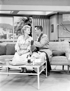 I Love Lucy production still - Lucy and Ricky in Hollywood