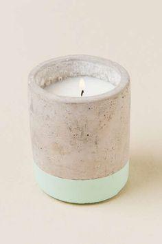 Sea Salt and Sage Concrete Candle