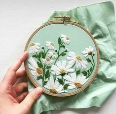 Wonderful Ribbon Embroidery Flowers by Hand Ideas. Enchanting Ribbon Embroidery Flowers by Hand Ideas. Hand Embroidery Stitches, Silk Ribbon Embroidery, Crewel Embroidery, Embroidery Hoop Art, Hand Embroidery Designs, Embroidery Techniques, Cross Stitch Embroidery, Embroidery Ideas, Embroidery Supplies