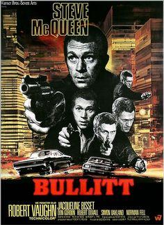 Bullitt ,réalisé par Peter Yates avec Steve McQueen, Jacqueline Bisset,de 1968
