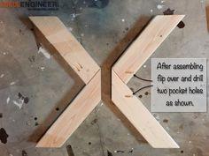 Woodworking Diy Furniture DIY X-Brace Concrete Side Table Plans Diy Furniture Easy, Diy Furniture Projects, Woodworking Projects Diy, Diy Wood Projects, Woodworking Plans, Furniture Stores, Woodworking Patterns, Woodworking Magazine, Woodworking Techniques