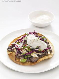 Chicken and Black Bean Tostadas from FoodNetwork.com