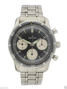 Vintage Zenith Chronograph Cal.146 diver watch