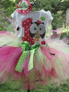 Owl Birthday outfit....Whoos turning 1,2,3,4 etc. $35.00, via Etsy. @Chris Cote Tranquill
