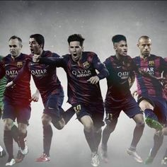 Barcelona's 7 players are involved in the shortlist for Fifa Ballon D'or 2014-15, congratulations to them !  the winner of Ballon D'or is right in the centre of the picture