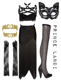 """trill kitty"" by prettyassprince ❤ liked on Polyvore featuring Proenza Schouler, Fleet Ilya, Versace, N°21, photoshoot and musicvideolook"