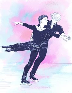 "aiwa-sensei: ""So I saw Gays on Ice today. It was good 10/10, would recommend. Seriously tho, I love figure skating soooooo… a quick piece to get back to drawing again. """