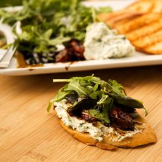 Herbed Goat Cheese Toasts with Balsamic Roasted Tomatoes