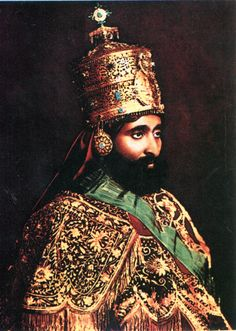 Haile Selassie in his crown