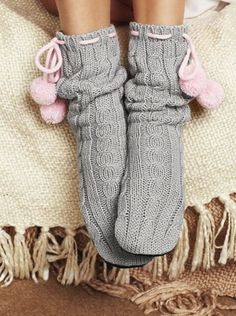 Perfect cozy socks for the Fall/Winter Cozy Socks, Fluffy Socks, Getting Cozy, Knitting Socks, Leg Warmers, Warm And Cozy, Pink Grey, Winter Fashion, Girly