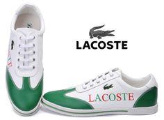 Lacoste Mens Sneaker Green White