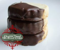 Chocolate Dipped Shortbread Cookies #HolidayButter #shop