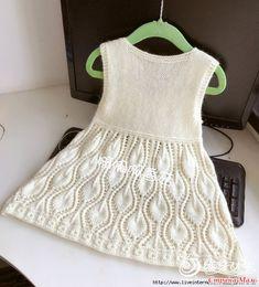 Белое платье спицами Knitting For Kids, Free Knitting, Baby Knitting, Crochet Rope, Crochet Baby, Knit Crochet, Knit Patterns, Sewing Patterns, Knit Baby Dress