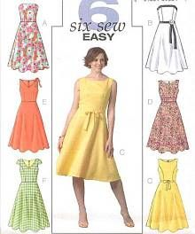 Butterick 4443 (have pattern).  Nice neckline.  Swap skirt out for gathered version?