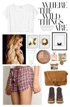 """Where the Wild Things Are"" by campbellfauber ❤ liked on Polyvore featuring Monki, Timberland, Fat Face, Cat Hammill, H&M and Chanel"