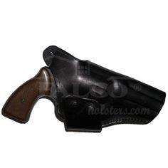 Cross Draw Leather Belt Gun Holster - It. 130