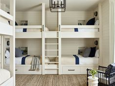 14 Generous Guest Bedrooms and Bunk Rooms - Check out right here bunk bed for small rooms - Bunk Bed Rooms, Bunk Beds Built In, Modern Bunk Beds, Bunk Beds With Stairs, Kids Bunk Beds, Custom Bunk Beds, White Bunk Beds, Double Bunk Beds, Loft Beds