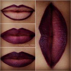 dark lips - mac current lip liner then LA Girl creme lipstick in fling Kiss Makeup, Love Makeup, Makeup Tips, Makeup Looks, Gorgeous Makeup, Makeup Geek, Makeup Ideas, Amazing Makeup, Beauty Make Up
