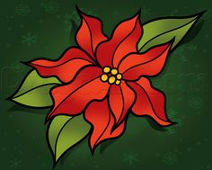 Next, make a cluster of beads for the center of the poinsettia flower or plant like so. Description from dragoart.com. I searched for this on bing.com/images