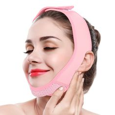 Facial Lifting Strap, V Line Mask Neck Double Chin Belt Skin Care Chin Lifting Firming Wrap(Pink) Face Wrap, Face Lines, Face Wrinkles, Double Chin, Sagging Skin, Skin Care Tools, Clean Face, Belts For Women, Eyebrow Pencil