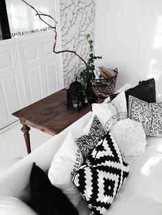 Pillows from IKEA, H, DAY, Lexington & MIO.