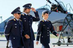 There's something about men in uniform. Men In Uniform, Tv Series, Captain Hat, Fur, Singer, Actors, Airplane, Fashion, Plane