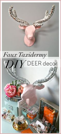 DIY faux taxidermy Deer Head decor tutorial