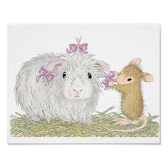 "House-Mouse Designs® - Gorgeous Guinea Posters - This product was recently purchased off from our ""House-Mouse Designs® Boutique Shop on Zazzle"". Click on the image for more information."