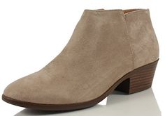 50% OFF SALE PRICE - $17.96 - Soda Women's Round Toe Faux Suede Stacked Heel Western Ankle Bootie