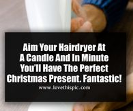 Aim Your Hairdryer At A Candle And In Minute You'll Have The Perfect Christmas Present. diy christmas how to video christmas crafts videos viral diy videos viral videos viral right now trending viral posts christmas videos Merry Christmas Pictures, Diy Christmas Presents, Homemade Christmas Gifts, Christmas Quotes, Christmas Crafts, Christmas Chair, Christmas Videos, Xmas Gifts, Good Morning Prayer