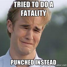 Mortal Kombat - Whenever I'm learning a new kombatant.
