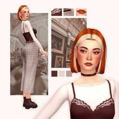 #ts4_lookbook Sims 4 Body Mods, Sims 4 Game Mods, Sims 4 Mm Cc, Sims Four, Sims 4 Mods Clothes, Sims 4 Clothing, The Sims 4 Cabelos, Sims 4 Collections, Pelo Sims