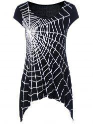 Spider Web Cap Sleeve T-Shirt