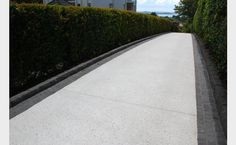 Peter Fell Coloured Concrete | White Cement + White pebbles + White sand = Amazing White Concrete Driveway
