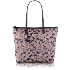 Cherry Blossom Dog, Large Zip-top Tote