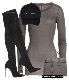 Untitled #2630 by whokd on Polyvore featuring polyvore, fashion, style, Rick Owens, Le Silla, Yves Saint Laurent, women's clothing, women's fashion, women, female, woman, misses and juniors
