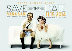 Cutest Save The Date! #wedding #invitation #savethedate #postcard