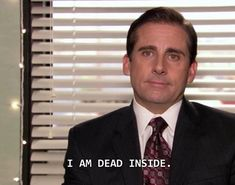 The Office - Michael Scott - I am dead inside. Best Movie Quotes, Tv Show Quotes, Film Quotes, Armageddon Movie, Music Cover Photos, Office Jokes, Office Icon, The Office Show, Office Wallpaper