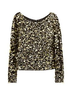 Alice and Olivia sequined satin top... Awesome with jeans