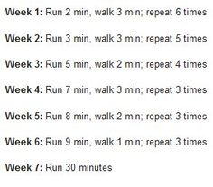 A more challenging beginning to running than my original couch to 5k plan.