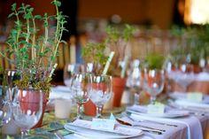 Elegant herb wedding tablescape(Kendall Lauren Photography)