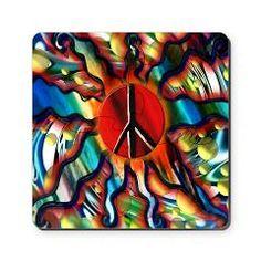 Peace Sun (sq) Puzzle Coasters (set of 4) > The Peace Sun > Flawn Ocho