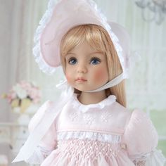 "Embroidered Dress for Effner Little Darling doll 13"" by AlenaTailorForDoll"