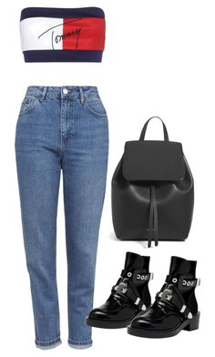 """Untitled #4400"" by amm-xo ❤ liked on Polyvore featuring Tommy Hilfiger, Topshop, Balenciaga and Mansur Gavriel"
