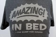 "Old Navy Men's SMALL ""Amazing in bed..."" Sort Sleeve Gray Graphic T-shirt M174 #OldNavy #GraphicTee"