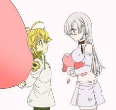 𝓛𝓲𝓷 - Nanatsu no Taizai (Couples) Elizabeth Seven Deadly Sins, Seven Deadly Sins Anime, 7 Deadly Sins, Meliodas Vs, Meliodas And Elizabeth, Elizabeth Liones, Animé Fan Art, Fairy Tail Natsu And Lucy, 7 Sins
