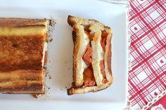 Cake di pane e mozzarella