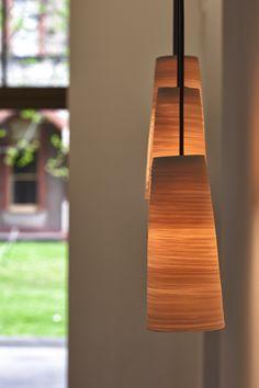 Porcelain Light shades. $250 each.  Artist Colin Hopkins of Cone 11 ceramics studio, Abbotsford Convent