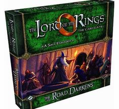 Fantasy Flight Games The Lord of the Rings: The Card Game Expansion: The Road Darkens The Road Darkens Lord of the Rings Card Game Saga Expansion! (Barcode EAN = 9781616618858). http://www.comparestoreprices.co.uk/lord-of-the-rings-games/fantasy-flight-games-the-lord-of-the-rings-the-card-game-expansion-the-road-darkens.asp